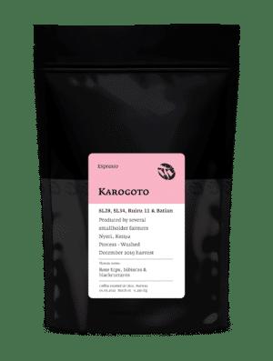 Karogoto Kenyan espresso roast coffee