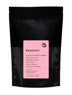 Karogoto Kenyan light roast filter coffee